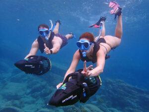 scooter snorkeling antigua
